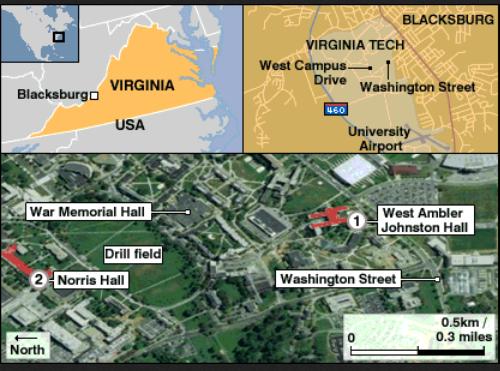 virginia tech map